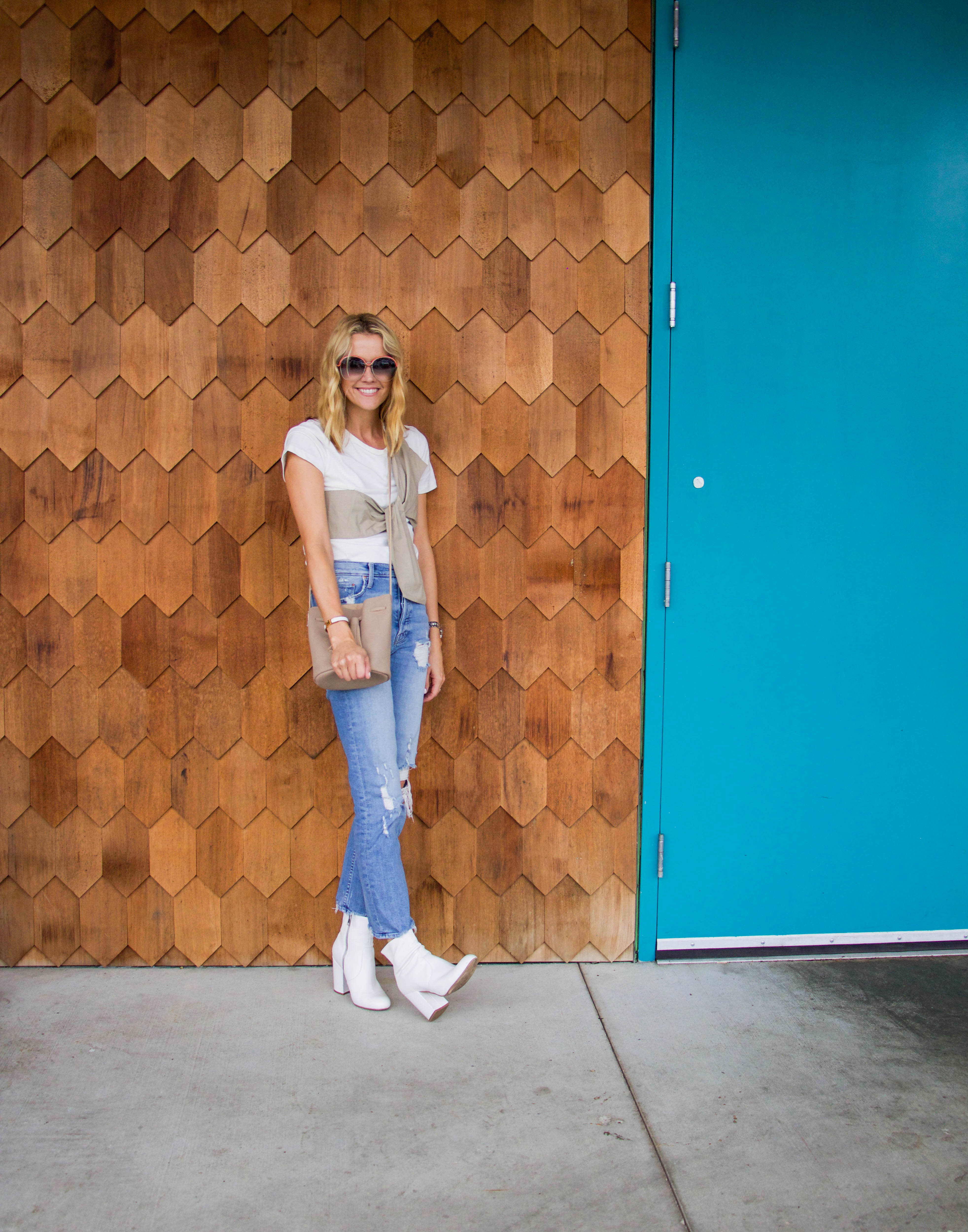 L. Avenue OOTD - not your basic white tee and my favorite jeans!