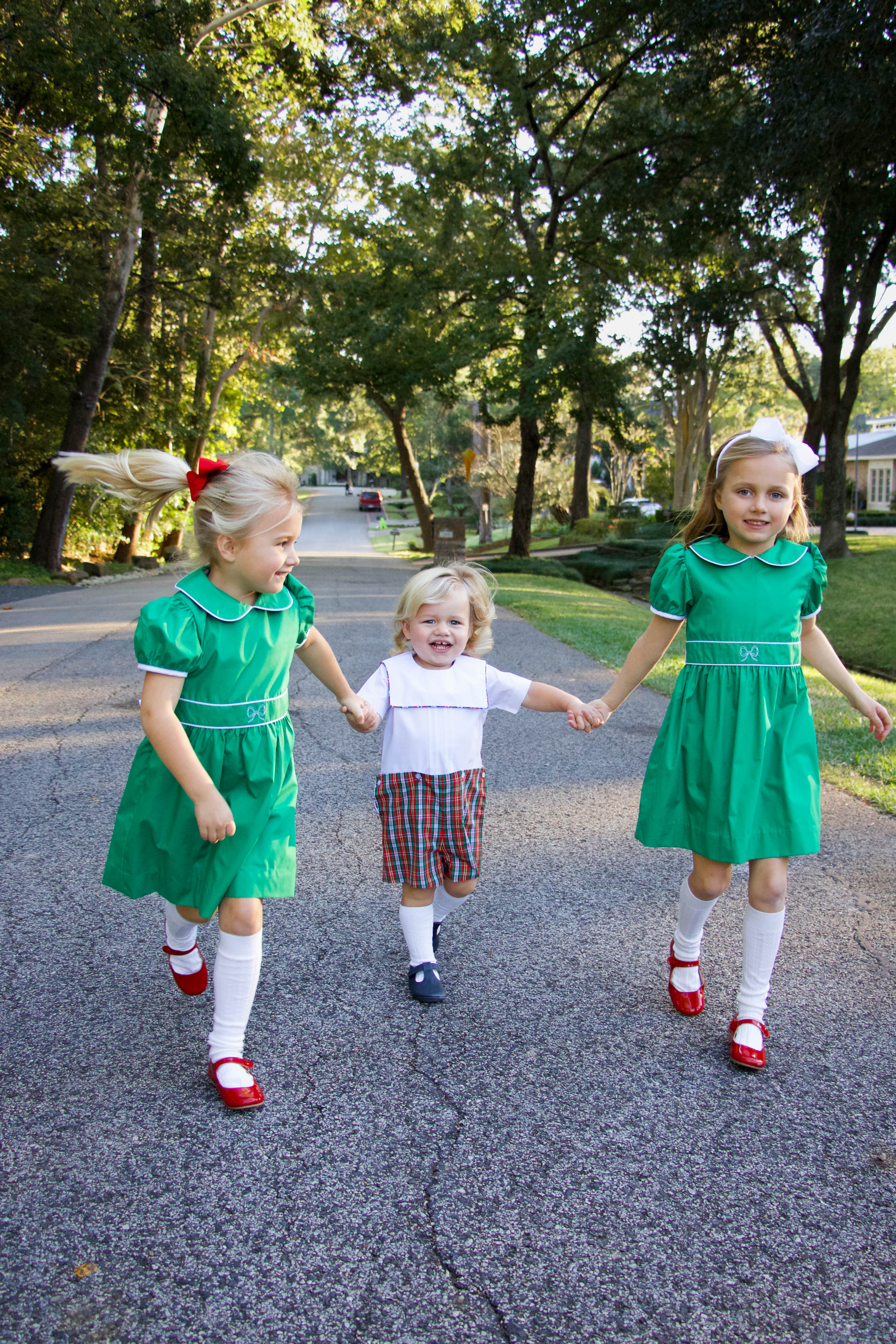 Beaufort Bonnet kids clothing for Christmas - girls and boys - formal dresses and onesie