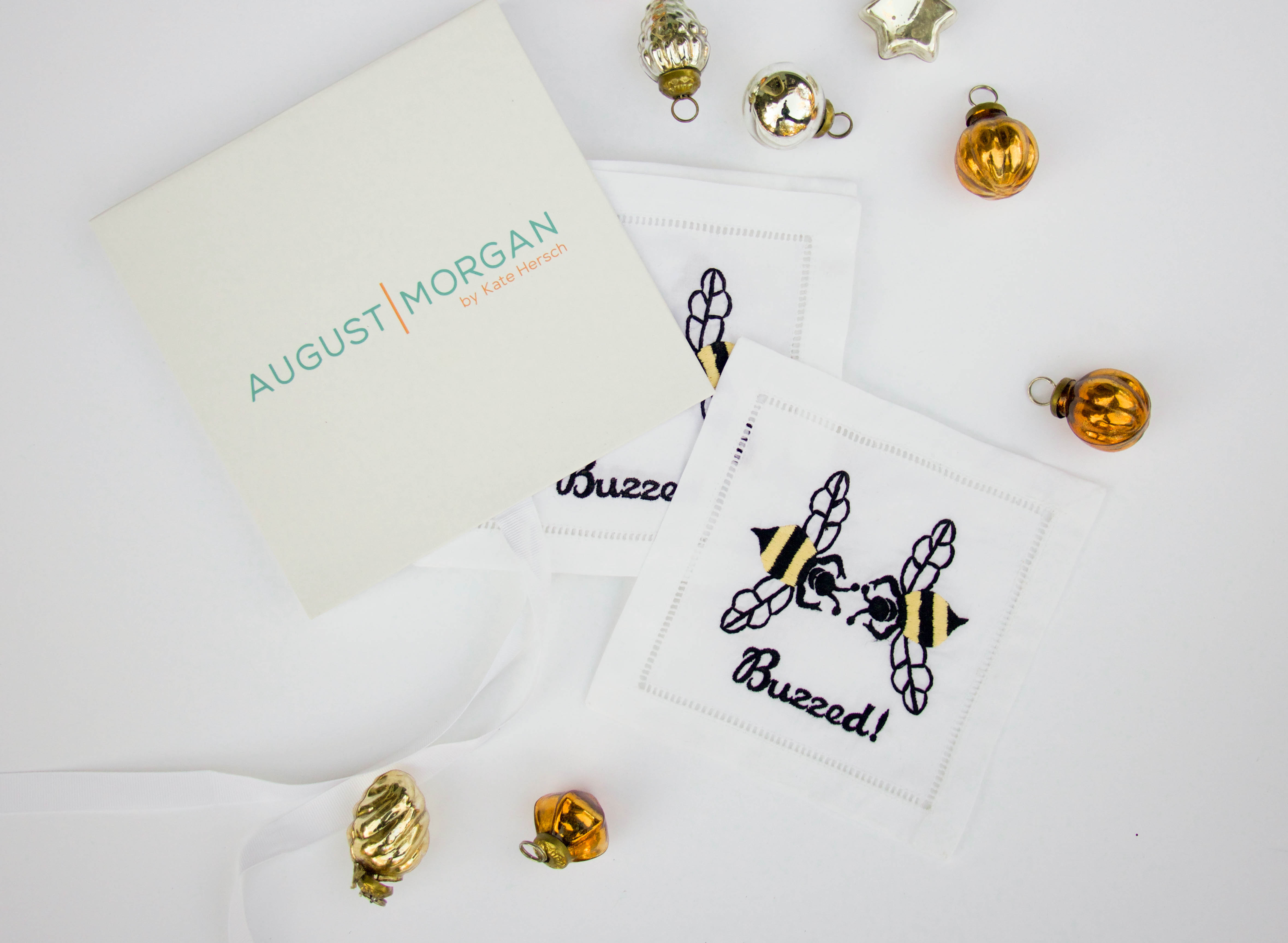 August Morgan Buzzed cocktail napkins - christmas gift - present for the hostess