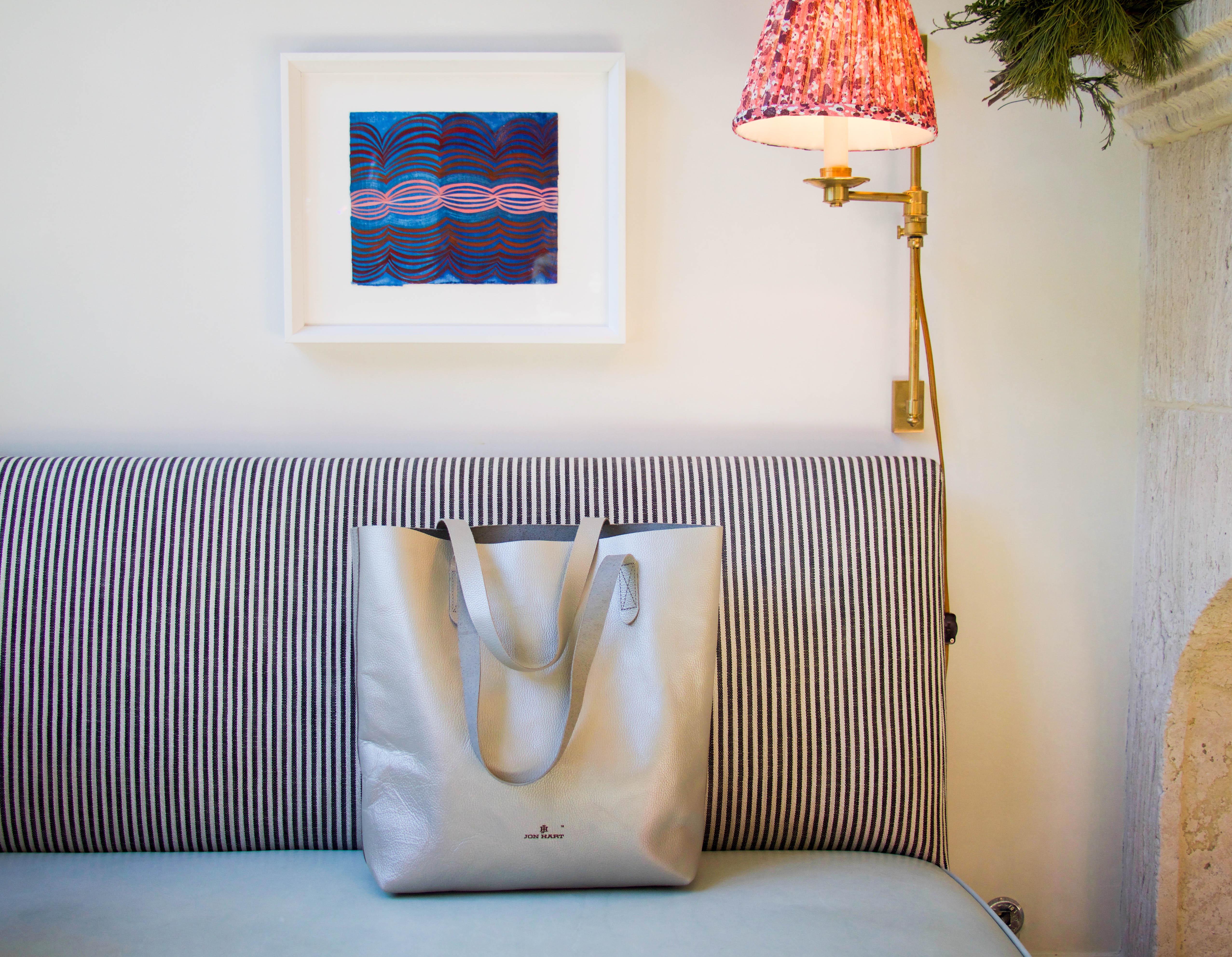 Jon Hart silver tote bag - under the tree - christmas gift