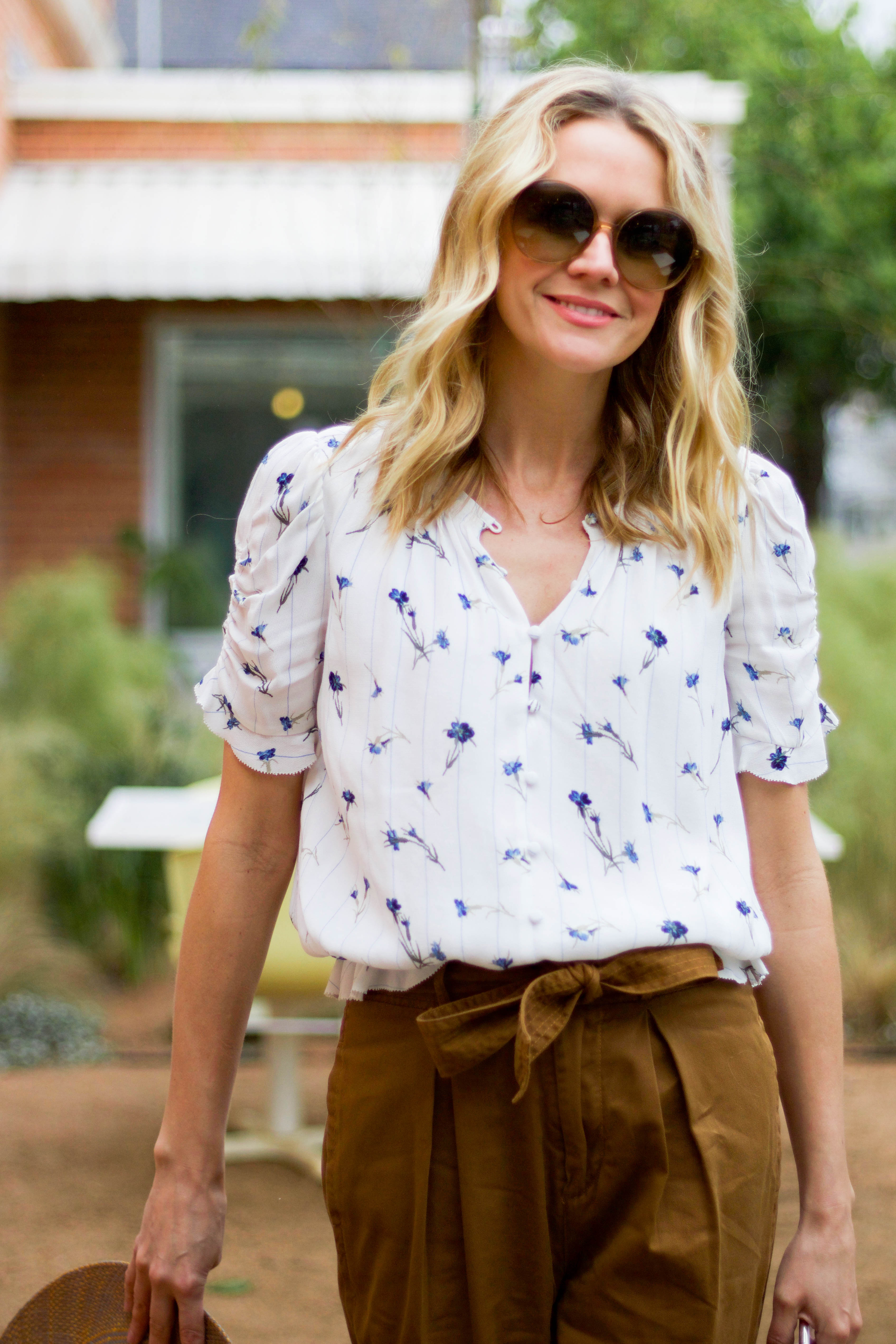 Joie floral blouse - spring look - Freya hat - easy everyday wear - spring florals - cute comfy